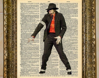 Michael Jackson Dictionary Art