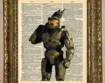Halo Master Chief Dictionary Art