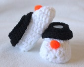 Snowman Feet - Infant Slipper Socks for the Holidays - Winter Baby Shower Gift