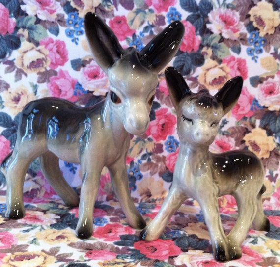 Cute Vintage Donkey Ornaments Figurines