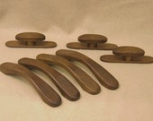 Art Deco Furniture Drawer and Cabinet Pulls, Handles, and Knobs, Custom made from solid hardwoods