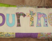 Personalized Name Pillow - Custom/Made To Order - Fabric Letter Pillow