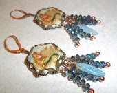 RESERVED For Lynn Wilkie, Little Mermaid Bronze And Copper Earrings