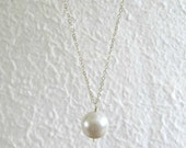 Long Pearl Necklace-Long ...