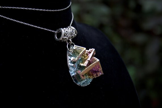 Bismuth Crystal Pendant - The Ancient Teardrop Trinket