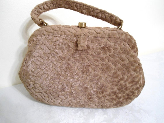 Vintage Purse 1950s to 1960s by Jana Camel Colored