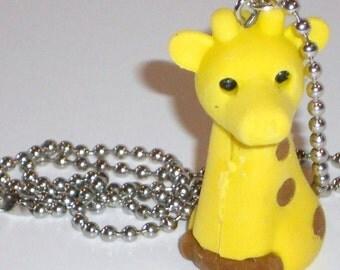 Giraffe Necklace Rubber Toy Geekery Jewelry