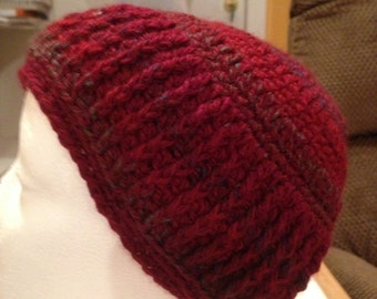 Men's Burgundy-mix Hat