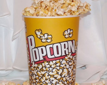8 LARGE 32ounce POPCORN Buckets Party Time Fun,  Gatherings, Family Movie Night, Game Day , FootBall