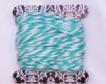 Bakers Twine - 12 Yards AQUA  Twisted Twine - Stationery, Packages, Homemade Gifts, Tags, Cards, DIY, Crafts, Shower, Party