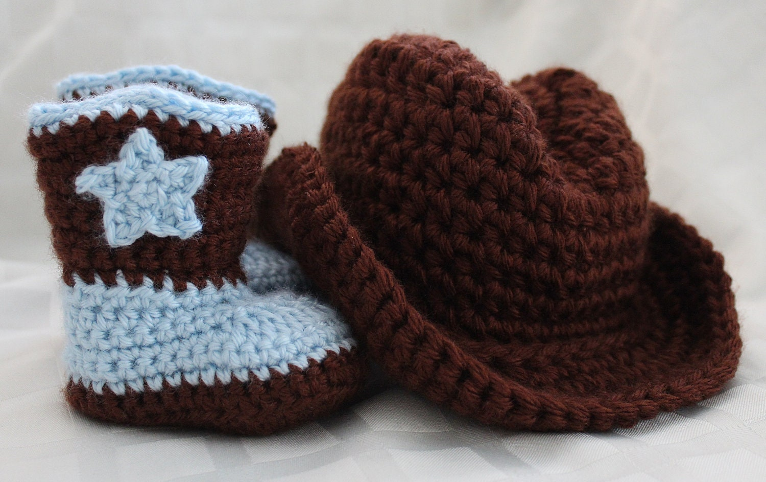 Crochet Cowboy Hat and Boots Photo Prop by ...