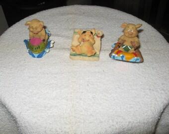 Collectible Ceramic Pigs Summer Fun