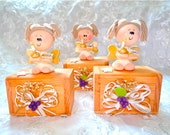 Favor wood box with angel. Favor, Decor. Baptism, First Communion, Christianity, Confirmation