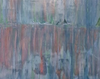 Abstract Textured Landscape Painting - DELUGE