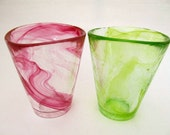 Reserved for Benna, pair of Kosta Boda Atoll Collection Art Glasses
