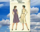 Women's Day Dress XL - Vogue Sewing Pattern Half Size
