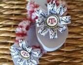 Girl's Texas A&M Flip Flops with Matching Removeable Bows