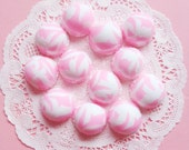 Kawaii Sweet Strawberry & Vanilla Ice Cream Scoop Cabochons 6pcs
