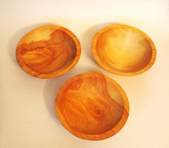 The Great Alaskan Bowl Company Vintage Birch Wood Bowls - Set of 3 - Alaska, USA