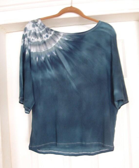 Pima Cotton Dolman Sleeve Shirt in Turquoise
