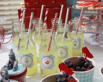 Glass Milk Bottles, 100 Party Bottles, BULK SALE, Vintage Milk Bottle Jars, Party Bottles, Wedding Drink Bottles or Glasses