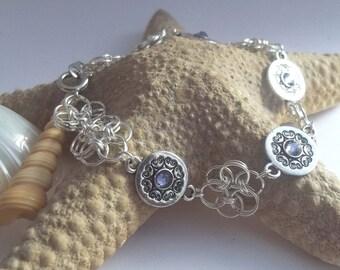Celtic Tribal Chainmaille  Bracelet