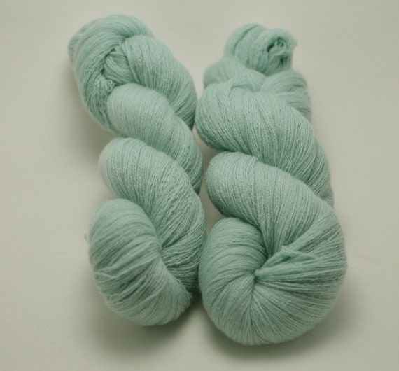 Reclaimed 100% Cashmere Yarn - Light Blue Lace Weight, 1,420 Yards