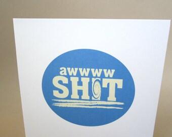 "Funny Congratulations Card, Congrats Card - ""Awww"""