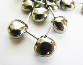 Pyrite Heart Briolettes, AAA, Micro Faceted, 9-12mm, 10 pieces