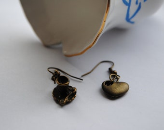 FINAL item! Once Upon A Time ABC TV Rumbelle Rumplestitltskin/Belle Antique Bronze Earrings