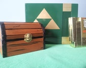 Hand Painted - Real Wood - Legend of Zelda Treasure Chest Inspired Trinket Box