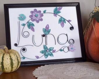 Paper Quilled Art  - Custom Made Quilled Names - Quilling247 - OOAK - Original Handmade Artwork