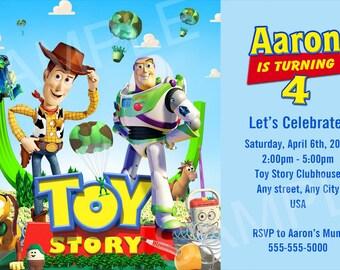 Toy Story Birthday Invitation Etsy