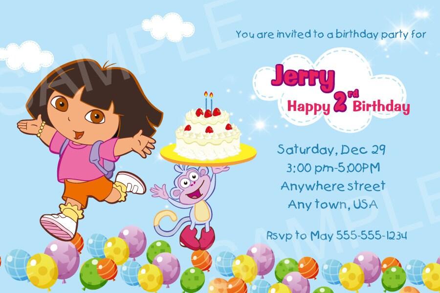 Dora Photo Invitation – orderecigsjuice.info