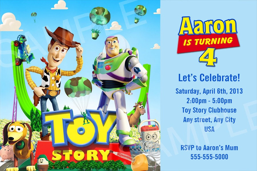 Toy Story Birthday Invitation Wording with nice invitation design