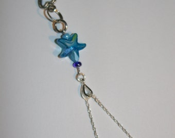 Star with key charm necklace