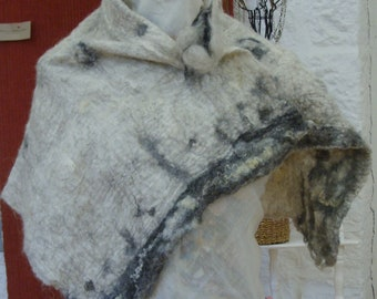 Nuno felted scarf, wool felted scarves, felt scarf, wool scarf, scarves, winter scarf, pure British wool.