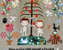 Barbara Ana Designs Adam and Eve Counted Cross Stitch Pattern