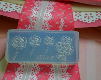 CLERANCE 3D Flexible Silicon Rose Mold for Acrylic and Gel Nail Arts