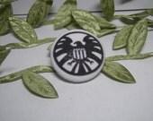 S.H.I.E.L.D Fabric Button Brooch