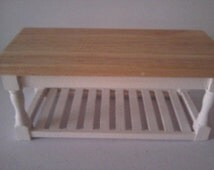 Doll house table in the colourer of your choice kitchen furniture 1 12th scale miniature work table