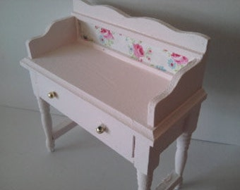 Wooden washstand dresser writing desk hand painted in the Colour of your choice miniature furniture