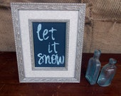 Let It Snow Glittery Holiday Decoration