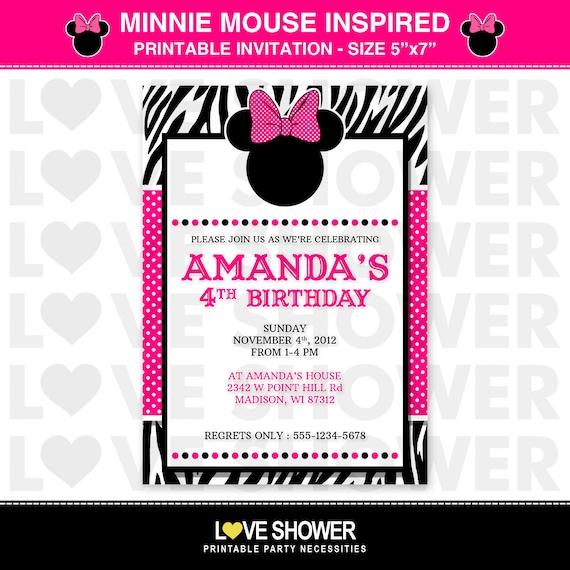 Disney Minnie Mouse BOWTIQUE inspirado cumpleaños por LoveShower