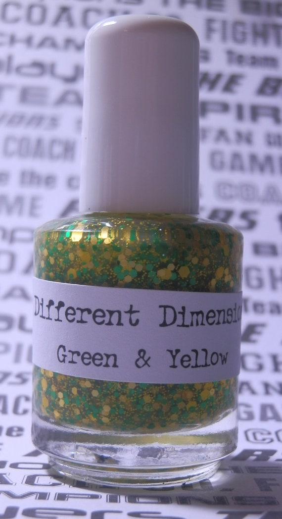 Green & Yellow - Show your team spirit - Nail Polish 15ml (.5oz)