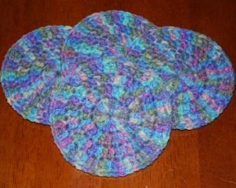 Crochet Coasters - Set of 4 - Monet