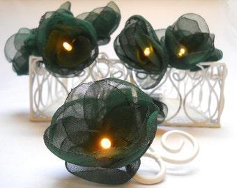 Flower Fairy Lights - Dark Green