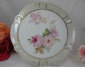 Vintage German Pink Rose Serving Plate