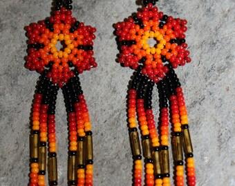 Huichol Beaded Earrings N