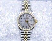 1982 Women's SS & 18k Gold Rolex Oyster Perpetual Quick-Set Watch, Vintage, SKU W-1022